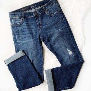 KUT from the Kloth Catherine Boyfriend Blue Jeans
